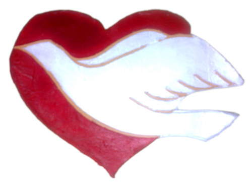 God Loves You, heart and holy spirit dove